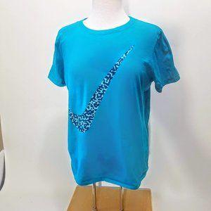 Green Nike Cheetah Print Swoosh T Shirt  Size XXL